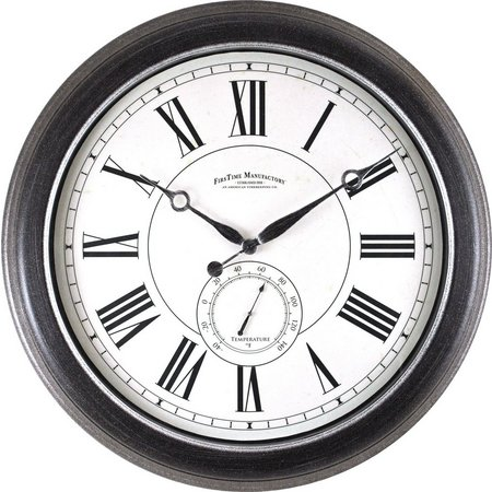 FirsTime 22.5'' Summit Outdoor Wall Clock