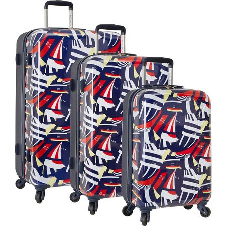 New! Nautica Jones Beach Sailboat 3-pc. Luggage Set