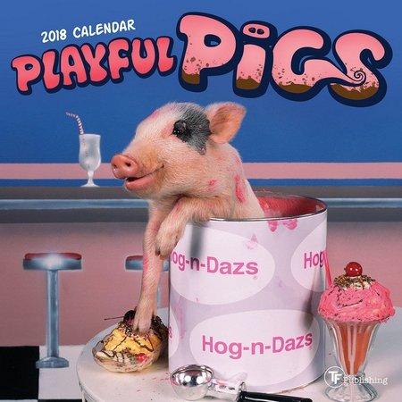 TF Publishing 2018 Playful Pigs Mini Calendar