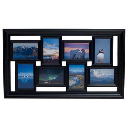 Melannco 8 Opening Black Collage Frame