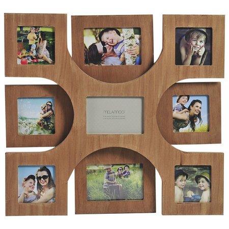 Melannco 9 Opening Wood Veneer Collage Frame