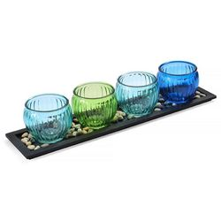 Pfaltzgraff 4 Tea Light Optic Jumbo Candle Garden