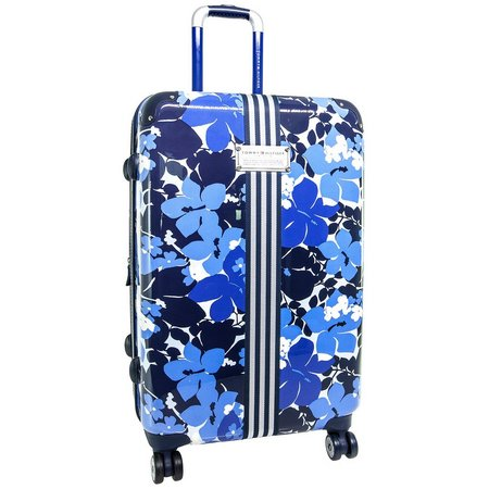 Tommy Hilfiger Blue Floral 25'' Hardside Luggage