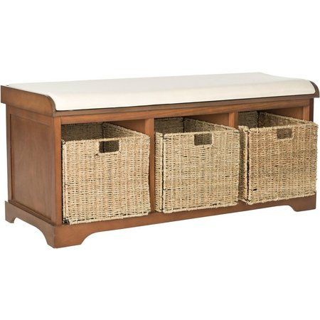 Safavieh Lonan Wicker Storage Bench