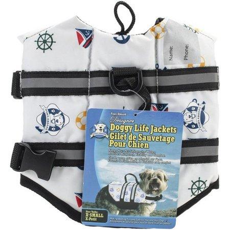 Fido Pet Paws Aboard Nautical Doggy Life Jacket