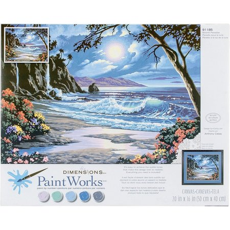 Paint Works Moonlit Paradise Paint By Numbers