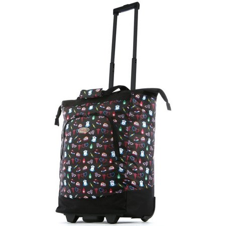 Olympia Deluxe Fashion Nurse Rolling Shopping Tote