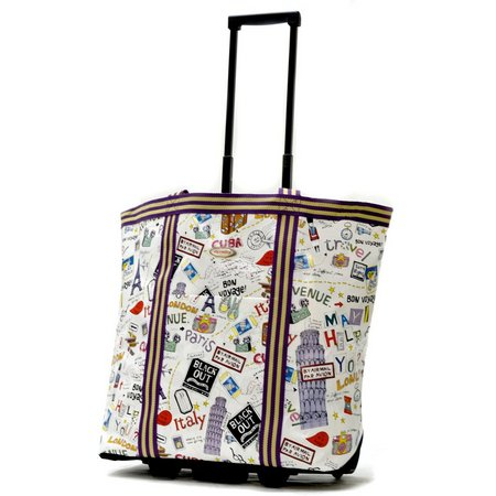 Olympia Cosmopolitan City Rolling Shopping Tote