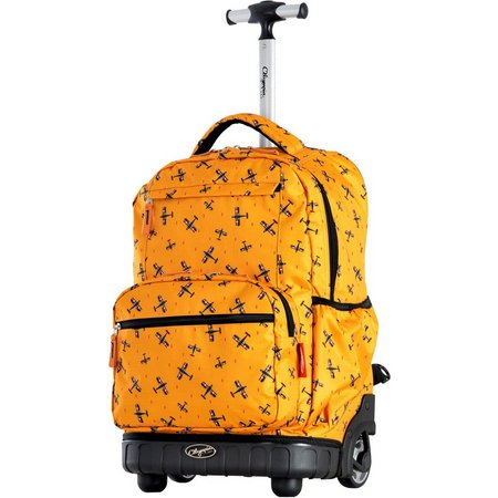 Olympia Luggage Melody Planes Rolling Backpack