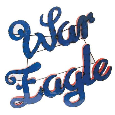 Auburn War Eagle Recycled Metal Wall Decor