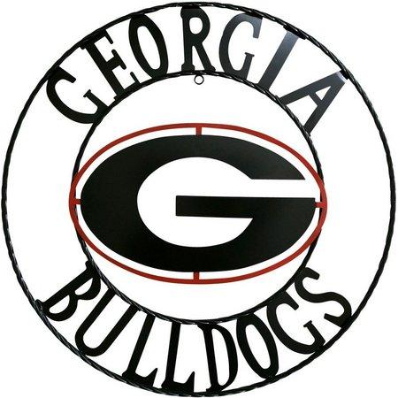 Georgia Bulldogs 18'' Wrought Iron Wall Decor