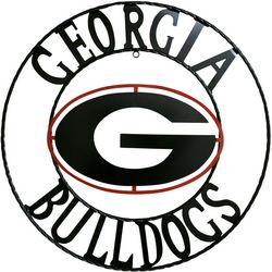 Georgia Bulldogs 18'' Wrought Iron Wall Decor