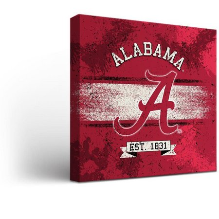 Alabama Crimson Tide Banner Design Canvas Wall Art