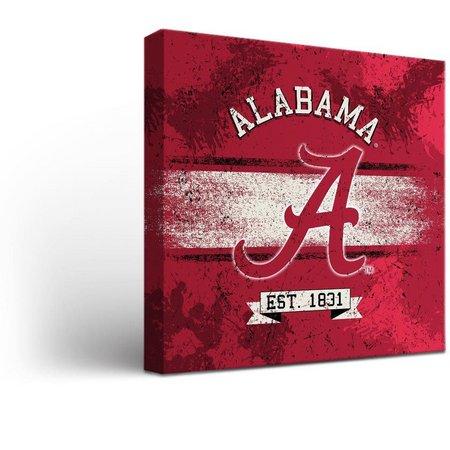 Alabama Crimson Tide Banner Design Canvas Wall Art