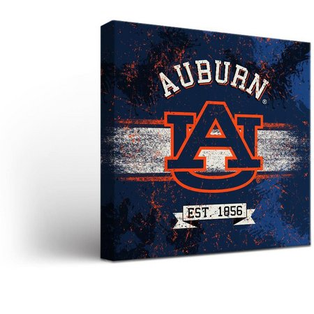 Auburn Tigers Banner Design Canvas Wall Art