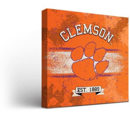 Clemson Tigers Banner Design Canvas Wall Art