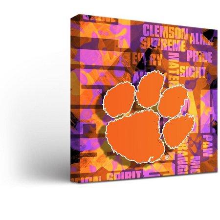 Clemson Tigers Fight Song Design Canvas Wall Art