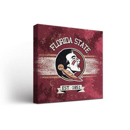Florida State Banner Design Canvas Wall Art