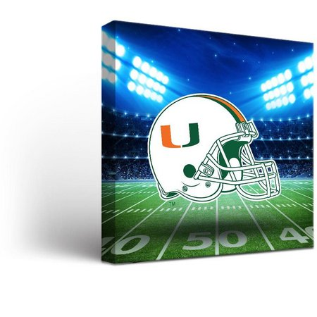 Miami Hurricanes Stadium Design Canvas Wall Art