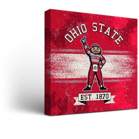 Ohio State Banner Design Canvas Wall Art