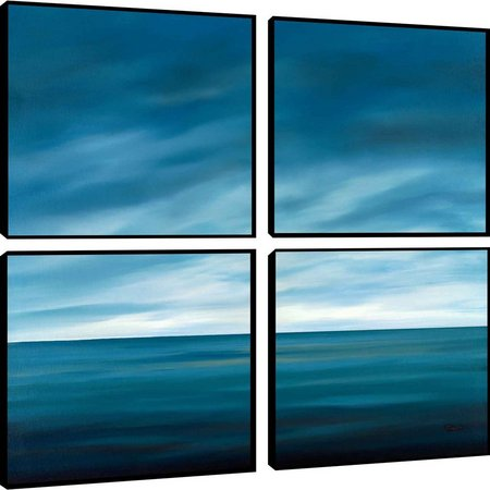 PTM Images Ocean Blue Quadriptych Wall Art Set