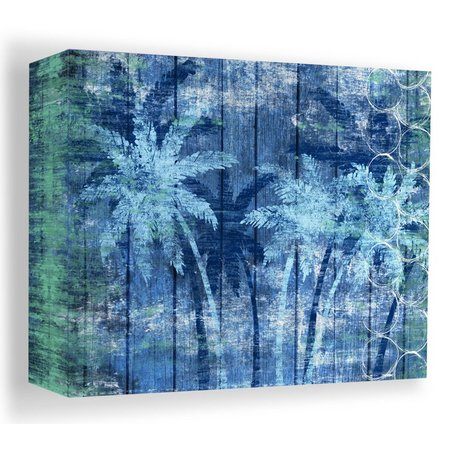 PTM Images 20'' Blue Palm Trees Canvas Wall