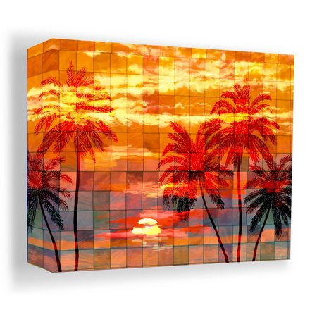 PTM Images 20'' Mosaic Sunset Canvas Wall Art
