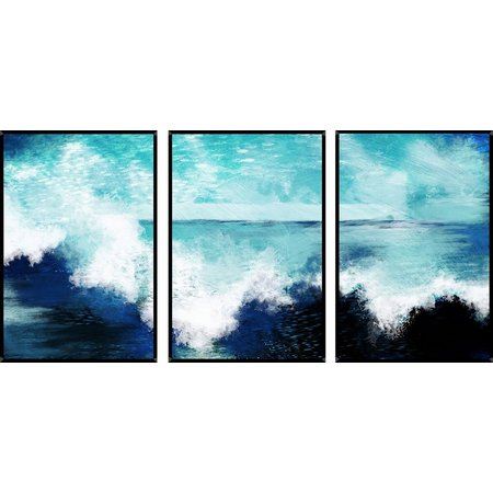 PTM Images Coastal Surf Triptych Wall Art Set