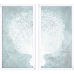 PTM Images Watercolor Coral Diptych Wall Art Set