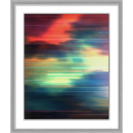 PTM Images Neon Galaxy I Framed Wall Art