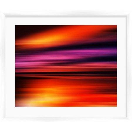 PTM Images Red Sunset I Framed Wall Art