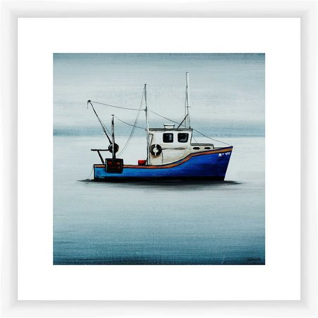 PTM Images Blue Tug Boat Framed Wall Art