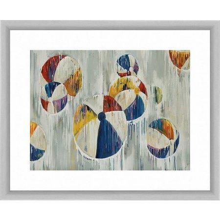 PTM Images Beach Balls Framed Wall Art