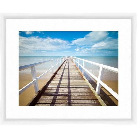 PTM Images Looking Down The Pier Framed Wall
