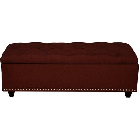 PTM Images Suede Ottoman
