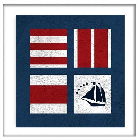 PTM Images Nautical Squads I Shadowbox Wall Art