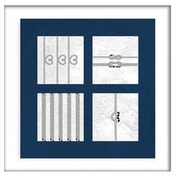 PTM Images Nautical Squads II Shadowbox Wall Art