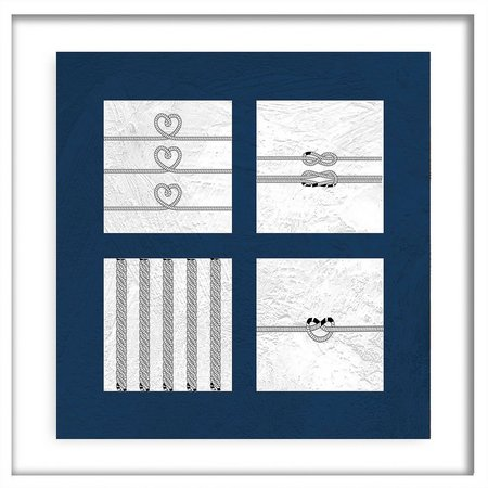 PTM Images Nautical Squads III Shadowbox Wall Art