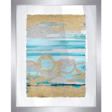 PTM Images Shiny Coastal Sands II Framed Wall