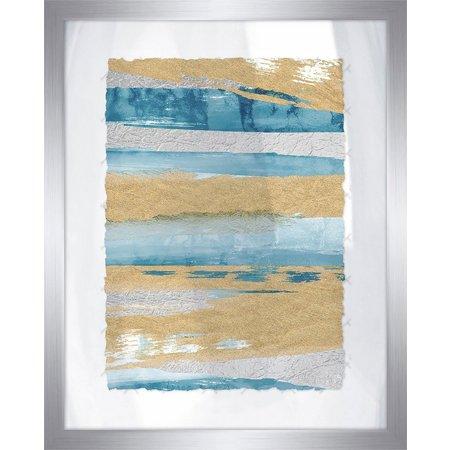 PTM Images Shiny Coastal Sands IV Framed Wall