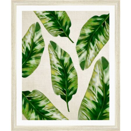 PTM Images Paradise Leaves II Framed Wall Art