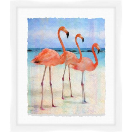 PTM Images Flamingos At The Beach II Wall