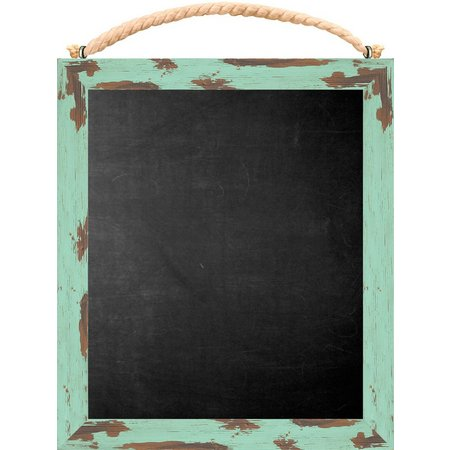 PTM Images Turquoise Frame Chalkboard With Rope