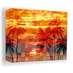PTM Images 40'' Mosaic Sunset Canvas Wall Art