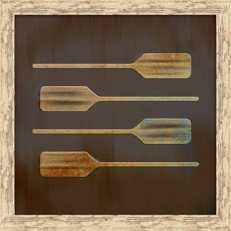 PTM Images Horizontal Boat Paddles Framed Wall Art