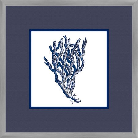 PTM Images Navy Coral I Framed Wall Art