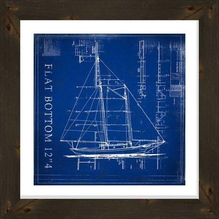 PTM Images Flat Bottom Blueprint Framed Wall Art