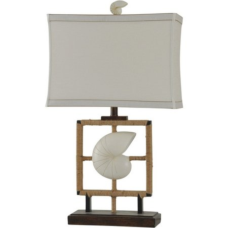 StyleCraft Coastal Inspired Shell Table Lamp