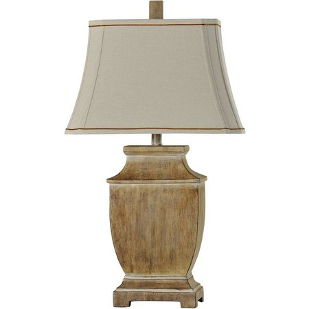StyleCraft Traditional Faux Wood Table Lamp