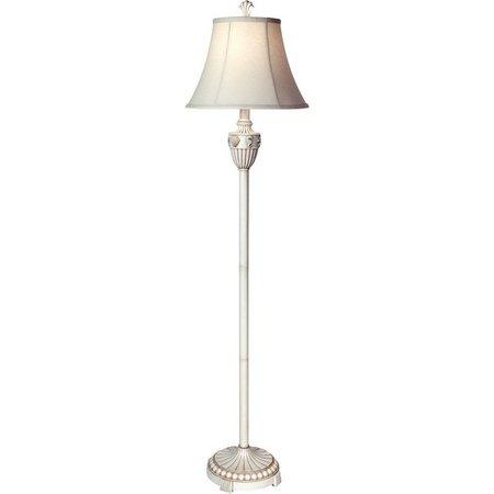 StyleCraft Cream Seashell Floor Lamp